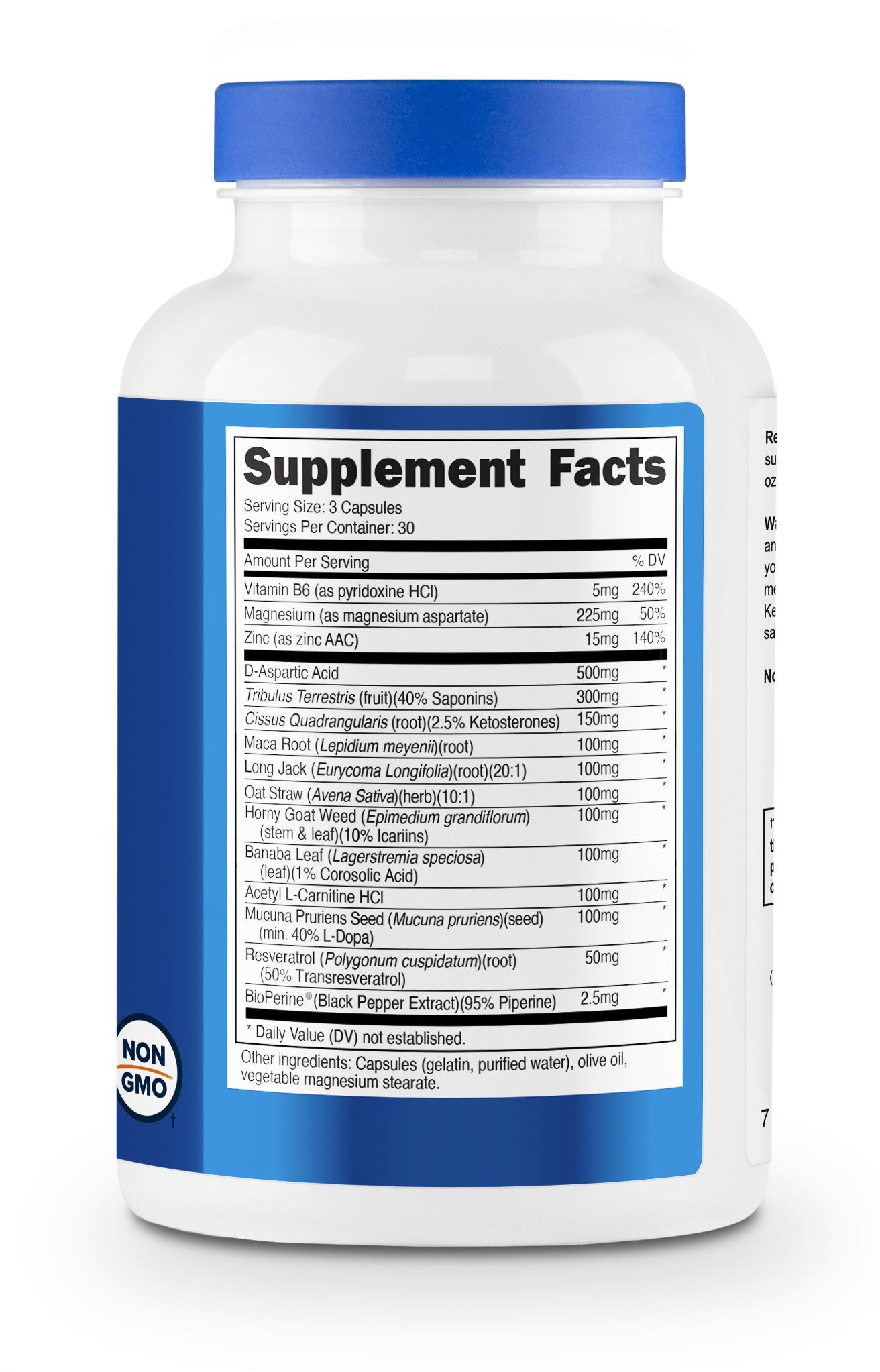 Nutricost Testosterone Complex eSupplements.com