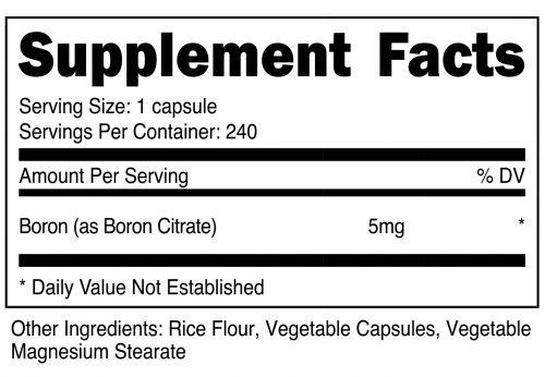 Boron Capsule SuppFacts
