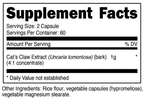Astragalus Capsules SuppFacts