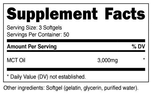 MCT Oil Powder SuppFacts