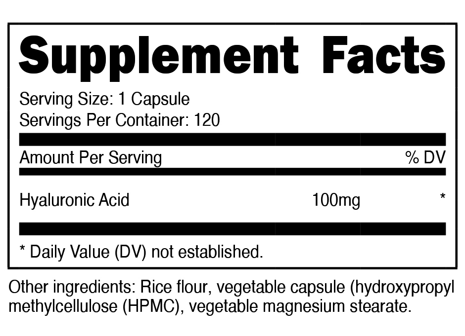 Hyaluronic Acid SuppFacts
