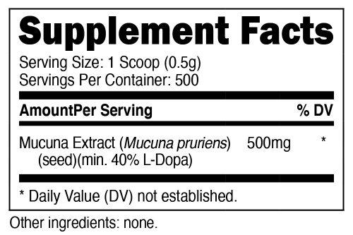 Mucuna Pruriens Powder SuppFacts