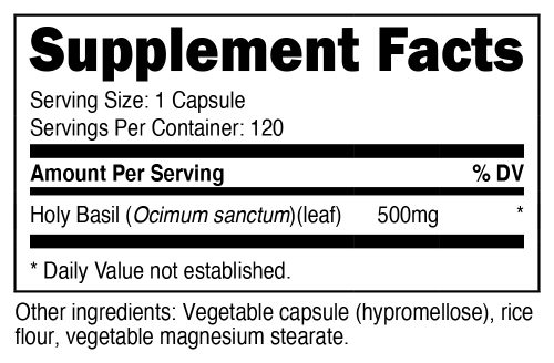 Holy Basil Capsule SuppFacts