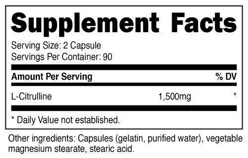 L-Citrulline Capsules SuppFacts