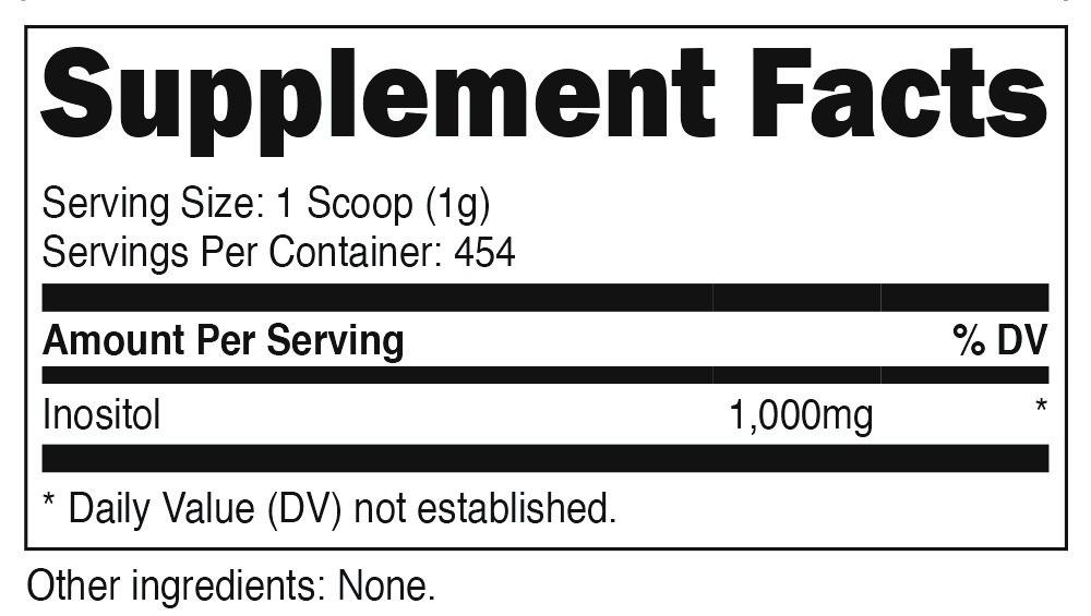 Inositol Powder SuppFacts