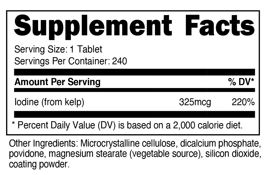 Iodine Supplement Facts