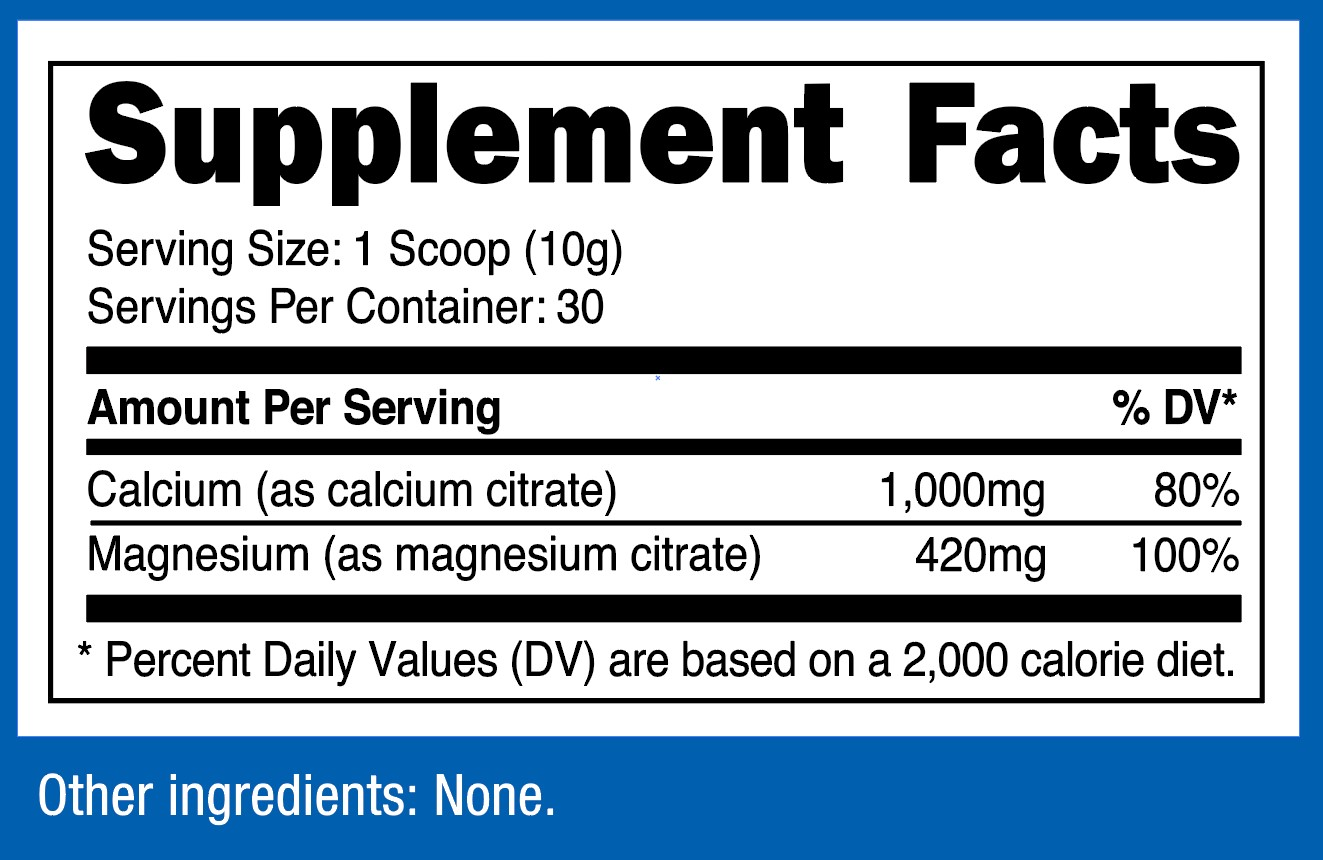 Calcium & Magnesium Supplement Facts