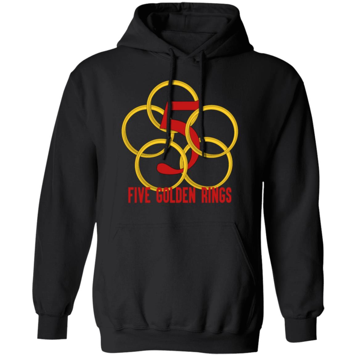 five golden rings song 12 days christmas numbers Christmas hoodie