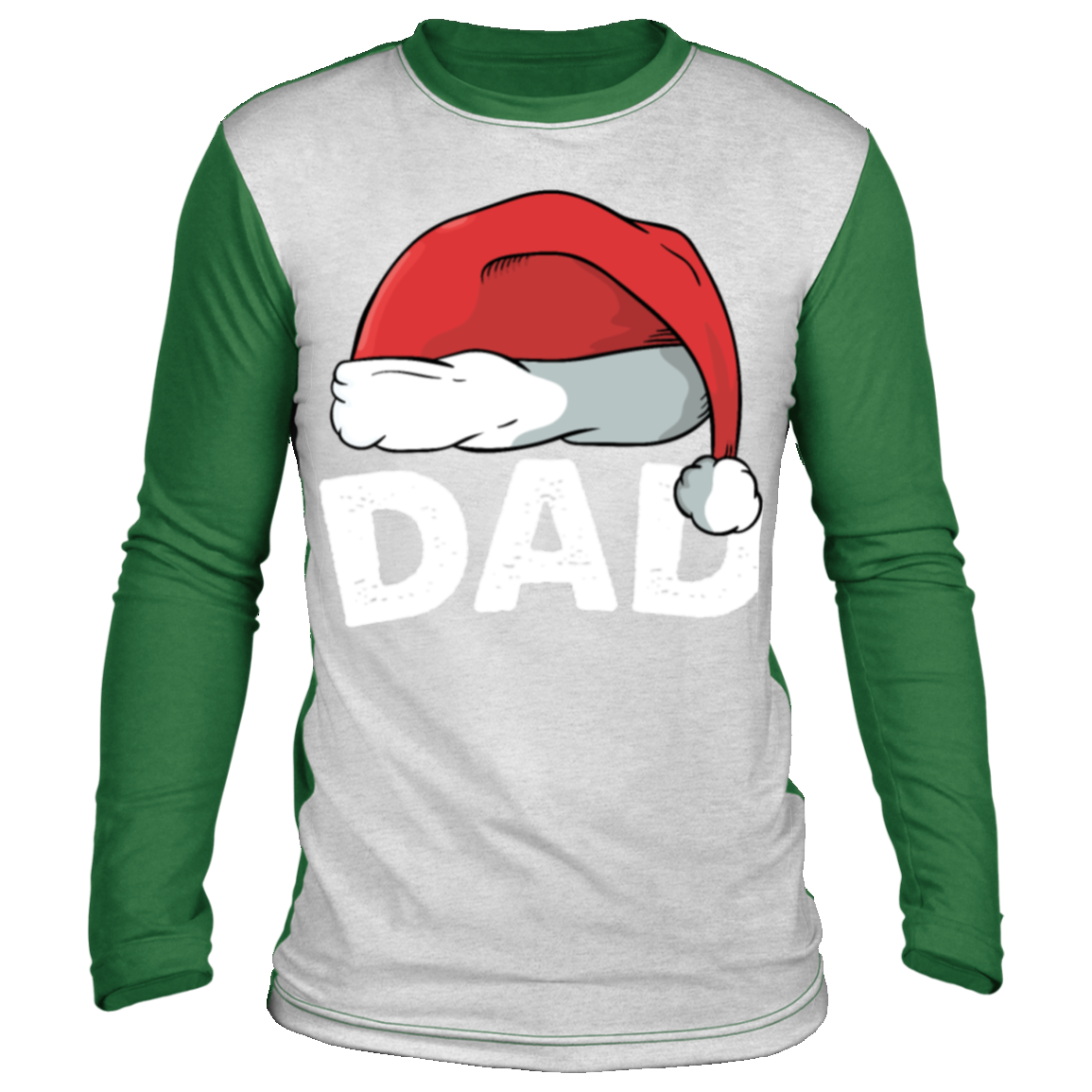 dad christmas xmas gift idea t shirt father daddy Christmas long sleeve shirt