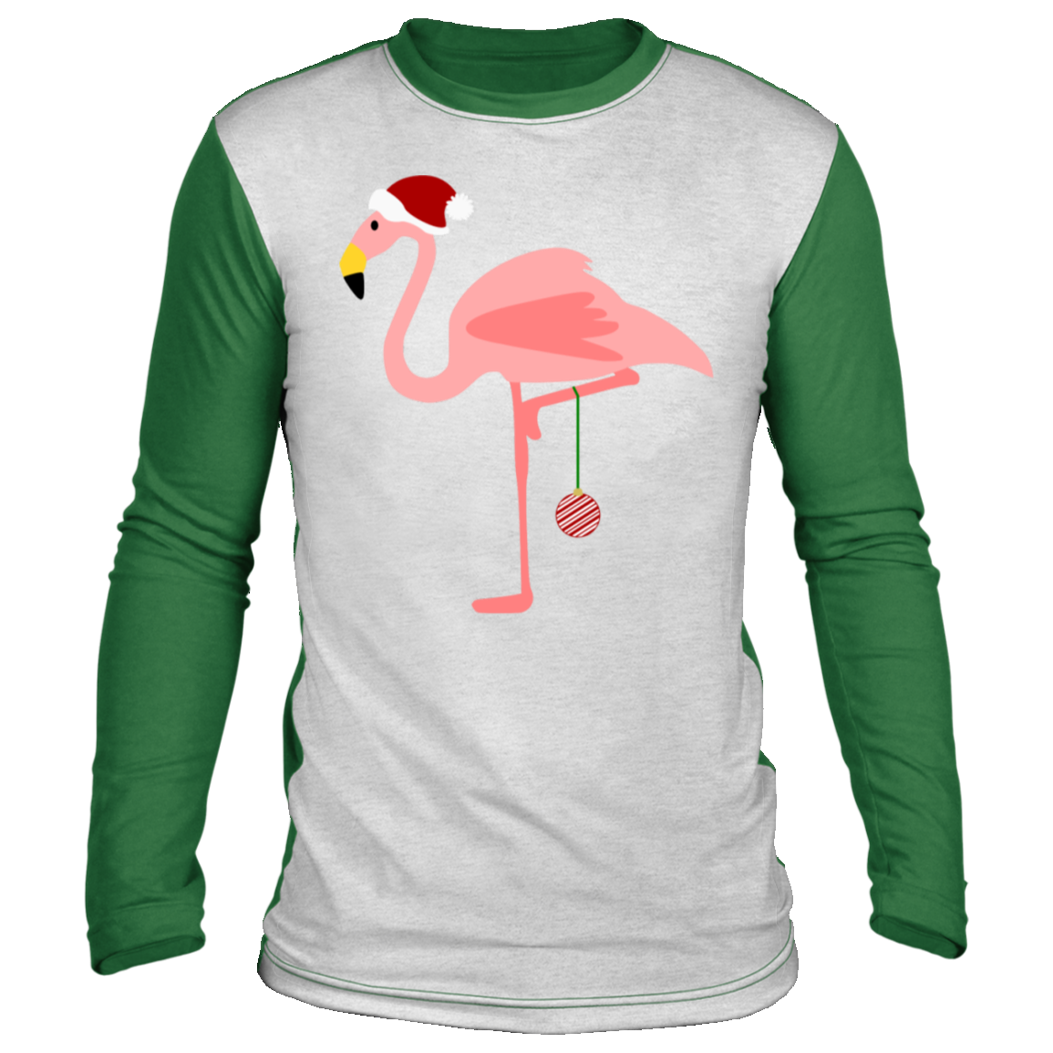 santa flamingo christmas flamingo Christmas long sleeve shirt