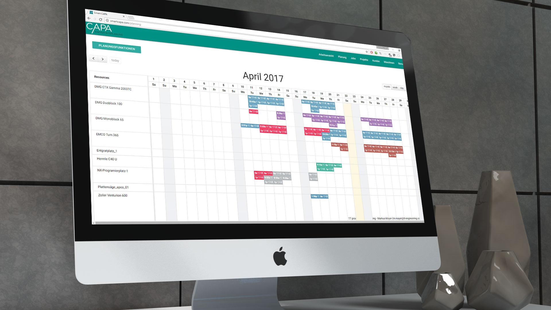 CAPA Kalenderansicht