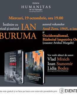 """Întâlnire cu istoricul și eseistul Ian Buruma autorul volumelor """"Anul Zero. 1945, o istorie"""" și """"Occidentalismul. Războiul împotriva Occidentului"""""""