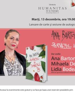 """Despre volumul de povestiri """"Pervazul lui Dumnezeu"""" cu Ana Barton, Mihaela Dedeoglu şi Lidia Bodea la Humanitas Cişmigiu lansare de carte şi sesiune de autografe"""