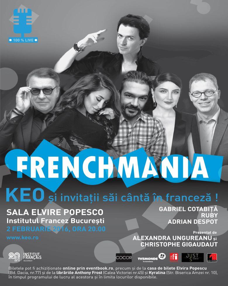 Concert Frenchmania - SOLD OUT Keo & invitații săi cântă în franceză