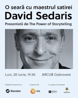 O seară cu David Sedaris Prezentată de The Power of Storytelling