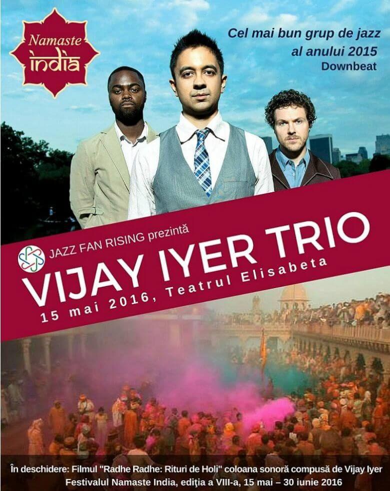 Concert Vijay Iyer Trio + Proiecție Radhe Radhe: Rituri de Holi