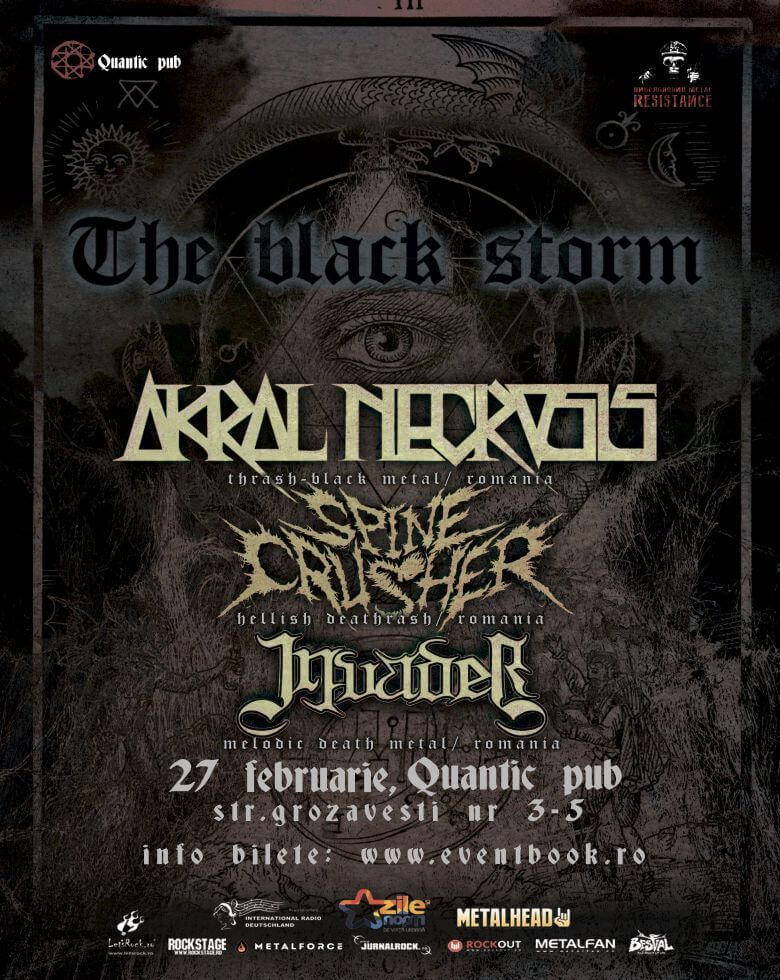 Underground Metal Resistance - The Black Storm AKRAL NECROSIS / SPINECRUSHER / CONCURRENCY IN KNOWLEDGE / INVADER