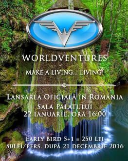 WORLDVENTURES Lansare Oficială în România