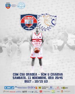 CSM CSU Oradea vs SCM U Craiova Liga Nationala de baschet masculin - editia 2017/18, etapa 6