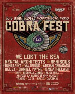 Cobra Fest 1.0 We lost the sea / Sonar / Meniscus / Valerinne +many more