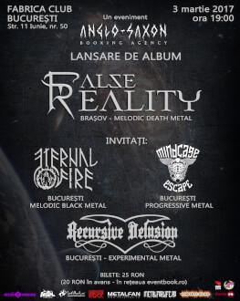 False Reality - lansare album End of Eternity Invitați: Eternal Fire, Mindcage Escape, Recursive Delusion