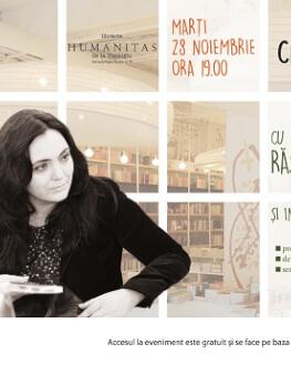 Creative Talking cu Andreea Răsuceanu și Ruxandra Cesereanu marți, 28 noiembrie, ora 19, la Librăria Humanitas de la Cișmigiu