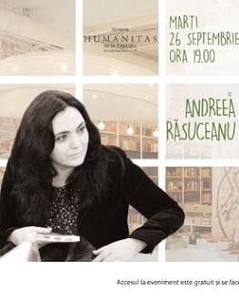 """""""Creative talking"""" cu Andreea Răsuceanu și invitații săi – marți, 26 septembrie, ora 19, la Humanitas Cișmigiu invitatul primei ediții: Marius Chivu"""
