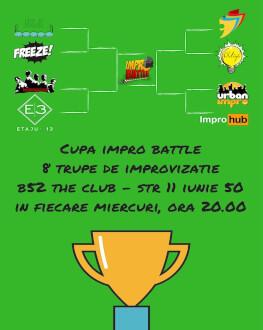 Abonament sferturi, semifinale, finala mica si finala mare Cupa Impro Battle