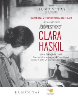 Dublu eveniment dedicat Clarei Haskil la București. Lansare de carte și conferință de presă