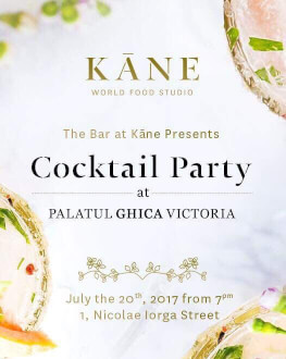 The bar at Kane goes to Palatul Ghica Victoria