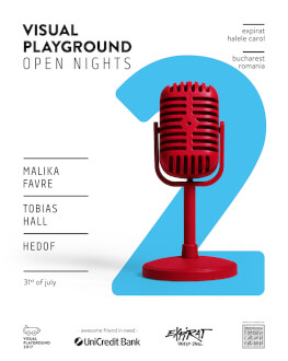 Visual Playground Open Nights 2017 - #2 Malika Favre / Tobias Hall / Hedof