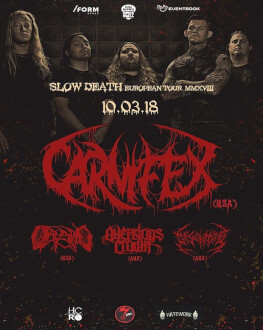 Carnifex [us], Oceano [us], Aversions Crown [au], Disentomb [au]