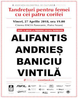 Tandrețuri pentru femei cu cei patru corifei Alifantis / Andrieș / Baniciu / Vintilă