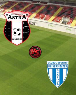 Astra Giurgiu - CS U Craiova Monday, 23 April 2018 Stadionul Marin Anastasovici, Giurgiu