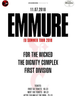 Emmure + For The Wicked / The Dignity Complex / First Division