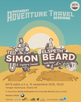 Bucharest Adventure Travel Sessions (BATS) 2018 Guests: Ted Simon & Elspeth Beard