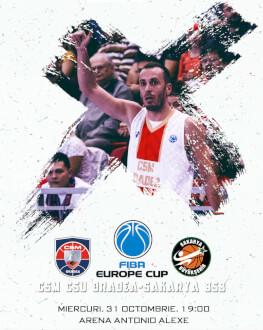 CSM CSU Oradea vs Sakarya BSB FIBA Europe Cup 2018/19, Etapa 3