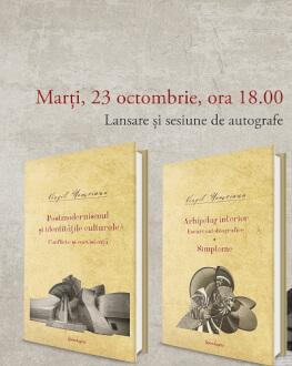 Eveniment Virgil Nemoianu | Dublă lansare de carte marți, 23 octombrie, de la ora 19.00