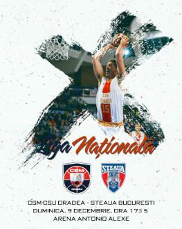 CSM CSU Oradea vs Steaua Bucuresti Liga Nationala de baschet masculin 2018/19, Etapa 9