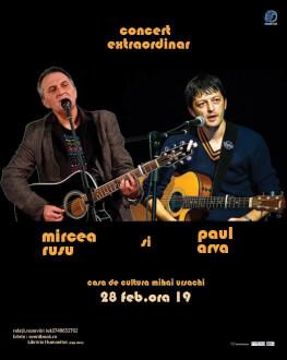 Concert extraordinar Mircea Rusu și Paul Arva