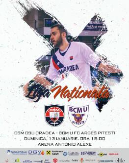 CSM CSU Oradea vs BCM U FC Argeș Pitesti Liga Nationala de baschet masculin 2018/19, Etapa 14