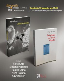 Nora Iuga și Albert Denn | Dublă lansare de carte duminică, 13 ianuarie, de la ora 17.00