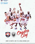 CSM CSU Oradea vs U-BT Cluj-Napoca Liga Nationala de baschet masculin 2018/19, Grupa Roșie - Etapa 9