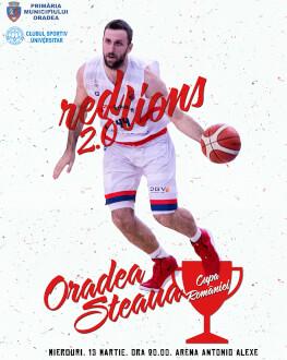CSM CSU Oradea vs Steaua Bucuresti Cupa Romaniei la baschet masculin 2018/19, Sferturi de Finala - Mansa 1