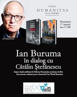 Istoricul Ian Buruma în dialog cu Cătălin Ștefănescu în librăria Humanitas de la Cișmigiu Eveniment în cadrul festivalului One World România
