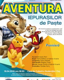 Aventura Iepurașilor de Paște Spectacol muzical de mascote și personaje