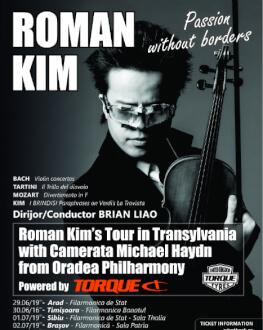 Roman Kim la Brașov - Filarmonica de Stat - Sala Patria Passion without borders