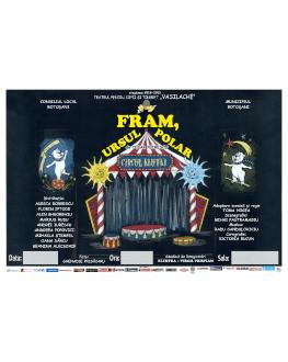 """Fram, ursul polar Festivalul internațional de teatru pentru copii """"Arlechino - Caravana Poveștilor"""""""