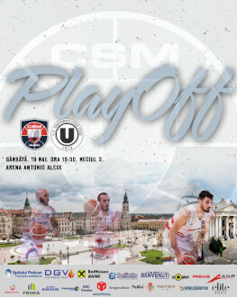 CSM CSU Oradea vs U-BT Cluj-Napoca Liga Națională de baschet masculin 2018/19, Playoff, Sferturi de finală, Meciul 3