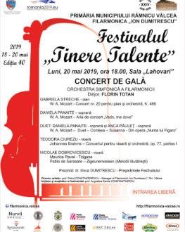 """Concert de Gală Festivalul """"Tinere Talente"""" - Ediția 40"""